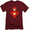 Justice League slim-fit t-shirt Simple Flash mens cardinal