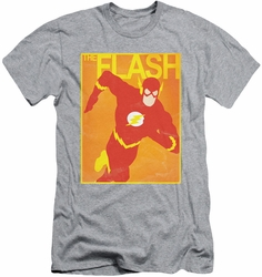 Justice League slim-fit t-shirt Simple Flash Poster mens athletic heather