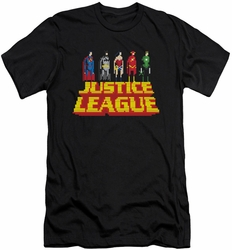 Justice League slim-fit t-shirt Standing Above mens black