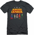 Justice League slim-fit t-shirt Standing Below mens charcoal