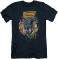 Justice League slim-fit t-shirt Star Group mens navy