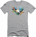Justice League slim-fit t-shirt Star Power mens silver