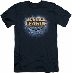 Justice League slim-fit t-shirt Storm Logo mens navy