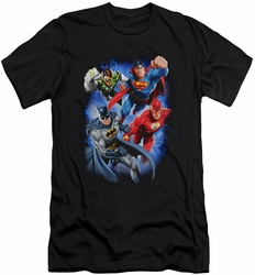 Justice League slim-fit t-shirt Storm Makers mens black