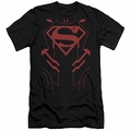 Justice League slim-fit t-shirt Superboy mens black