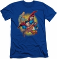Justice League slim-fit t-shirt Superman Collage mens royal