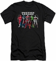 Justice League slim-fit t-shirt The Big Five mens black