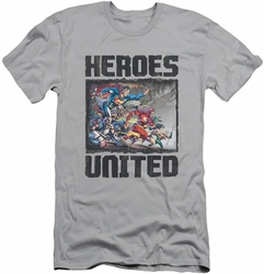 Justice League slim-fit t-shirt The Charge mens silver