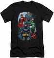 Justice League slim-fit t-shirt The Four mens black