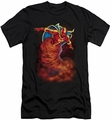 Justice League slim-fit t-shirt Tornado Cloud mens black