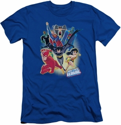 Justice League slim-fit t-shirt Unlimited mens royal