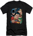 Justice League slim-fit t-shirt Up Close And Personal mens black