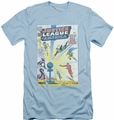 Justice League slim-fit t-shirt Vintage Cover 12 mens light blue