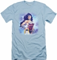 Justice League slim-fit t-shirt Warrior mens light blue