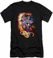 Justice League slim-fit t-shirt Wonder Rays mens black