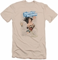 Justice League slim-fit t-shirt Wonder Woman #14 Cover mens cream