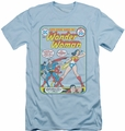 Justice League slim-fit t-shirt Wonder Woman #212 Cover mens light blue