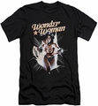 Justice League slim-fit t-shirt Wonder Woman Break Out mens black
