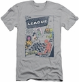 Justice League slim-fit t-shirt World Of No Return mens silver