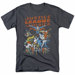 Justice League t-shirt Big Group mens charcoal