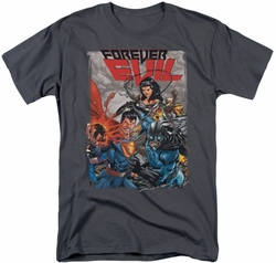 Justice League t-shirt Crime Syndicate mens charcoal