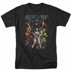 Justice League t-shirt Dark Days mens black