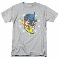 Justice League t-shirt Face Off mens athletic heather