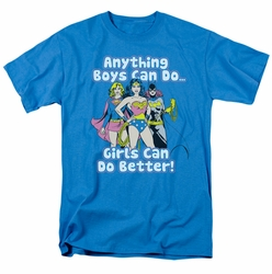 Justice League t-shirt Girls can do it better mens