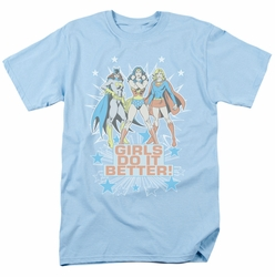 Justice League t-shirt Girls Do it Better mens