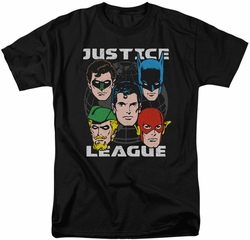 Justice League t-shirt Head Of States mens black