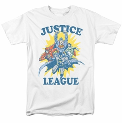 Justice League t-shirt Let's Do This mens white