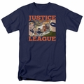 Justice League t-shirt New Dawn Group mens navy