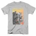 Justice League t-shirt Red Dawn mens silver