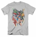 Justice League t-shirt Refuse To Give Up mens silver