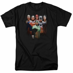 Justice League t-shirt Roll Call mens black