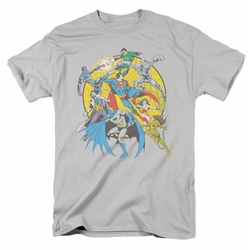 Justice League t-shirt Spin Circle Fight mens