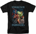 Justice League t-shirt Strength In Number mens black