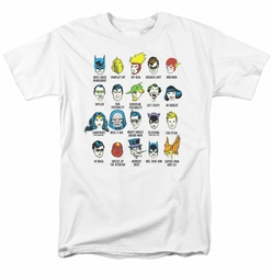 Justice League t-shirt Superhero Issues mens