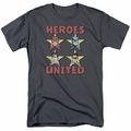 Justice League t-shirt United Stars mens charcoal
