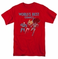 Justice League t-shirt Worlds Best mens red
