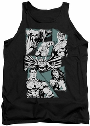 Justice League  tank top A Mighty League mens black