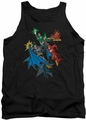 Justice League  tank top Action Stars mens black