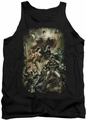 Justice League  tank top Aftermath mens black