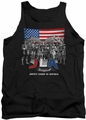 Justice League  tank top All American League mens black