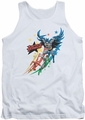 Justice League  tank top Allegiance mens white