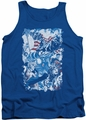 Justice League  tank top American Justice mens royal