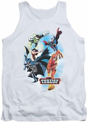 Justice League  tank top At Your Service mens white