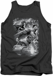 Justice League  tank top Atmospheric mens charcoal