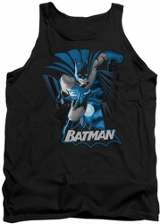 Justice League  tank top Batman Blue & Gray mens black