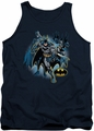 Justice League  tank top Batman Collage mens navy